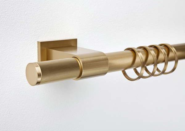 Gold Leaf Finish for Your Curtain Poles